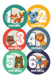 Baby Monthly Stickers - Tribal Animals