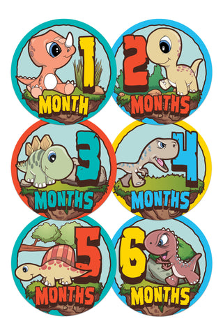 Baby Monthly Stickers - Baby Dinosaurs