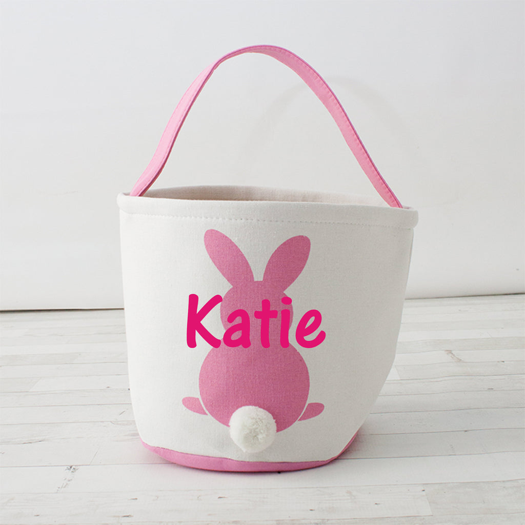 Round Cottontail Bunny Easter Basket Tote Personalized Wholesale