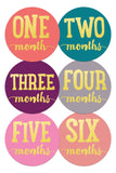 Baby Monthly Stickers - Gold & Bold