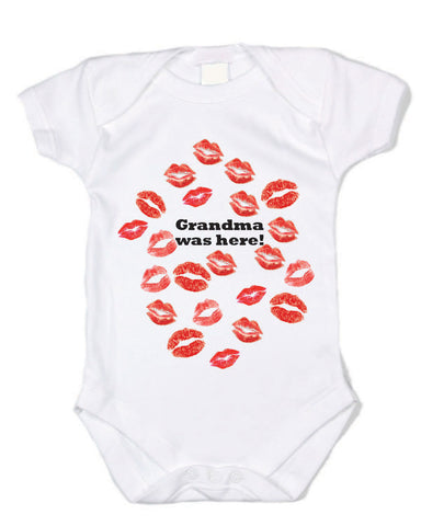 Grandma Was Here! (Lipstick Kisses) - Graphic Bodysuit