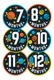 Baby Monthly Stickers - Space Adventure