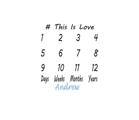 This Is Love - Monthly Baby Photo Sheet