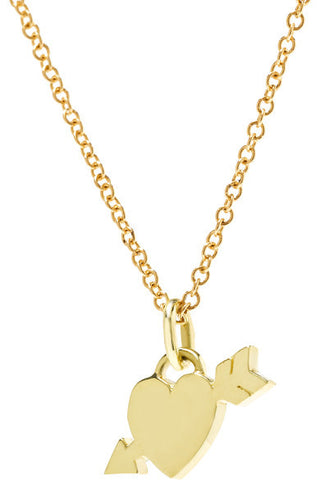 "Jennifer Meyer ""Shot Through The Heart"" Necklace"