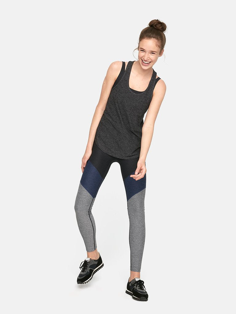 Outdoor Voices Light Racerback Tank in Charcoal