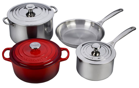 (LE CREUSET)RED Special Edition Cookware Set