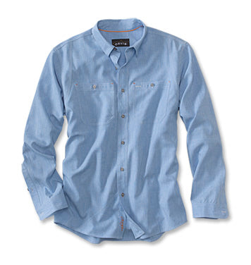 ORVIS TECH CHAMBRAY WORK SHIRT