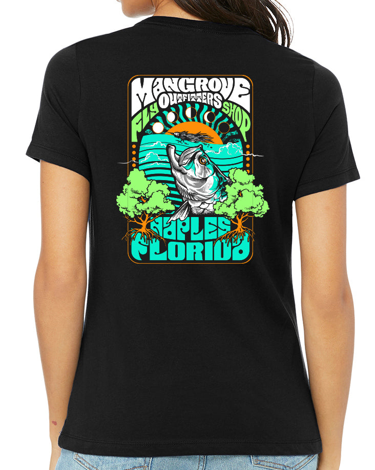 Mangrove Outfitters Fly Shop Trippy Tarpon Tee - Women