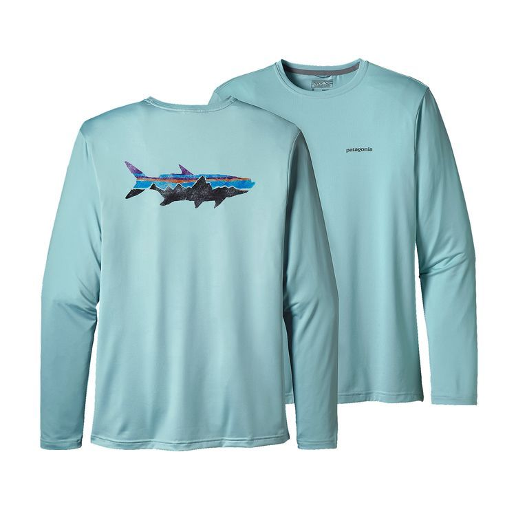 Patagonia Men's Long-Sleeved Capilene® Cool Daily Fish Graphic Shirt