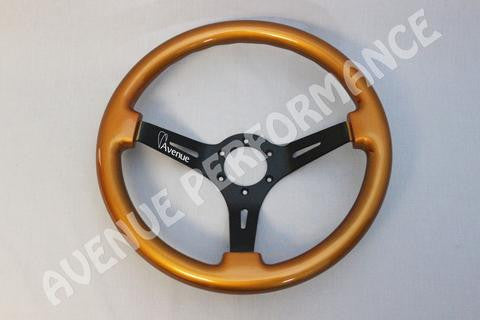 Avenue Performance: Burnt Orange/Black Spokes Steering Wheel