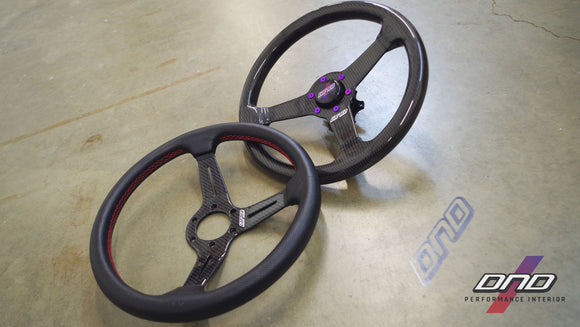 DND Performance: 350mm Perforated Leather/ Carbon Fiber Steering Wheel
