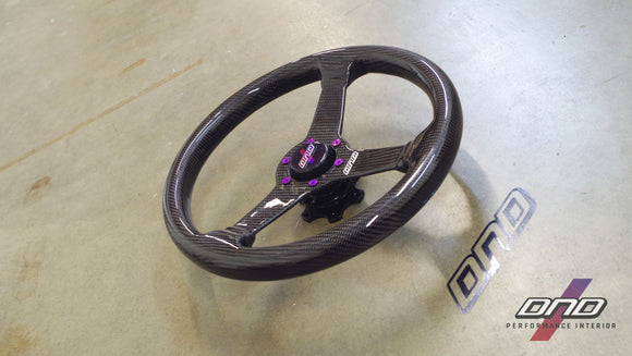 DND Performance: 350mm Carbon Fiber Steering Wheel