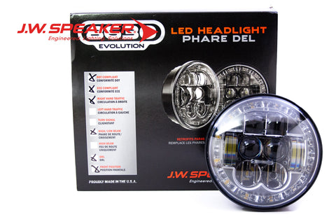 "JW Speaker 8630 Evolution Headlights (5.75"" ROUND) - DropGearz Motorsports"