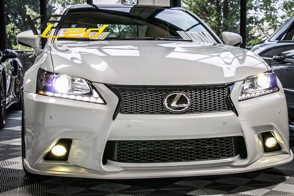 Yellow Lamin-X Fog Light Covers - DropGearz Motorsports