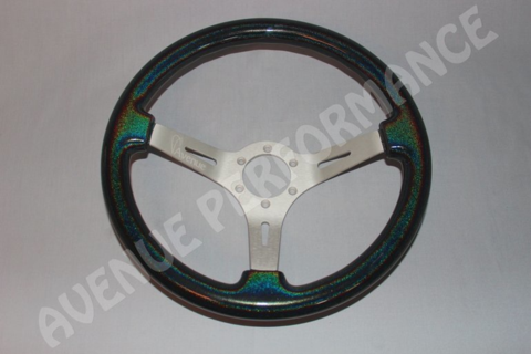 Avenue Performance: Stardust/Aluminum Brushed Spokes Steering Wheel