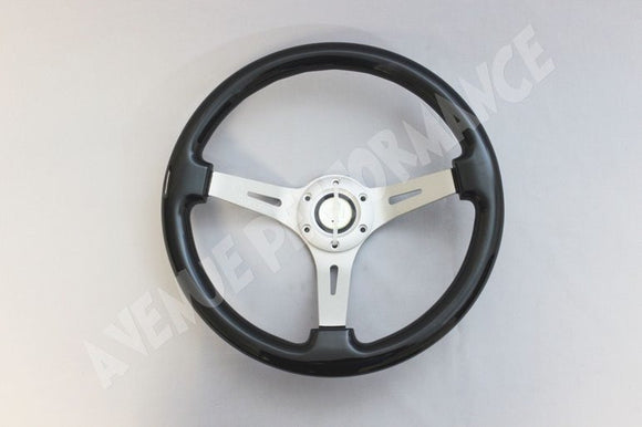 Avenue Performance: Raven Black/Aluminum Brushed Spokes Steering Wheel