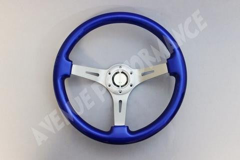 Avenue Performance: Daytona Blue/Aluminum Brushed Spokes Steering Wheel