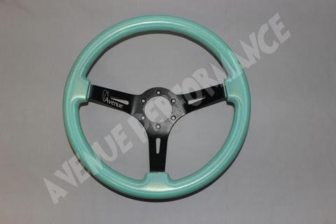 Avenue Performance: Del Mar/Black Chrome Spokes Steering Wheel