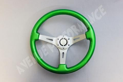 Avenue Performance: Kryptonite/Aluminum Brushed Spokes Steering Wheel