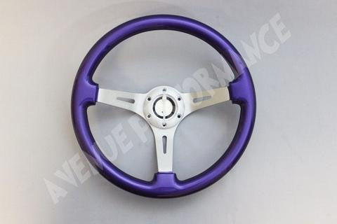 Avenue Performance: Electric Purple/Aluminum Brushed Spokes Steering Wheel