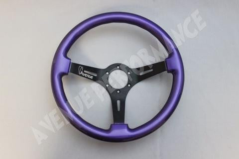 Avenue Performance: Electric Purple/Black Chrome Spokes Steering Wheel