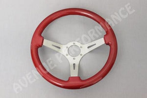 Avenue Performance: Crimson/Aluminum Brushed Spokes Steering Wheel