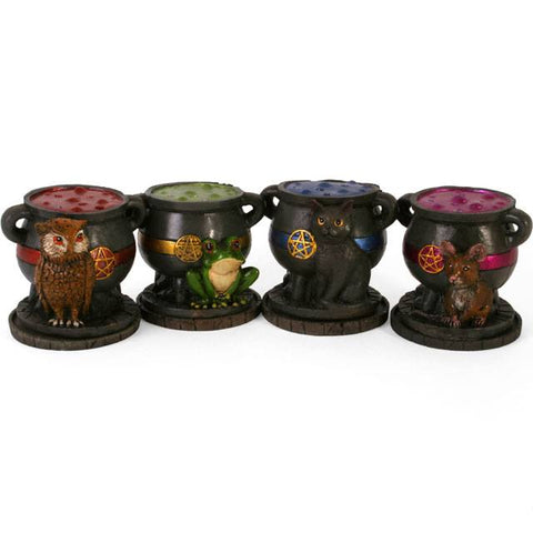 Pentacle Cauldron Incense Burner