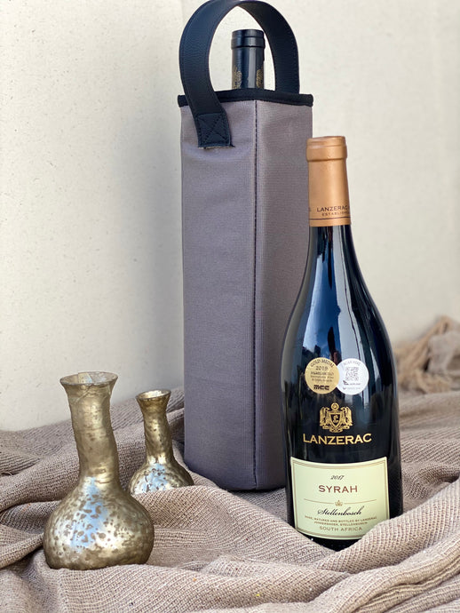 Riche Grey Wine Bag