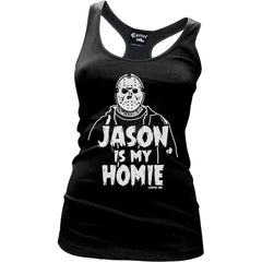 Womens Cartel Ink Jason Is My Homie Racerback Tank Top Black Friday the 13th
