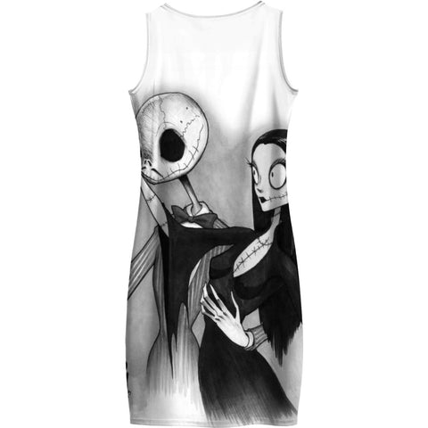 Addams Family Nightmare Before Xmas Body Con Dress