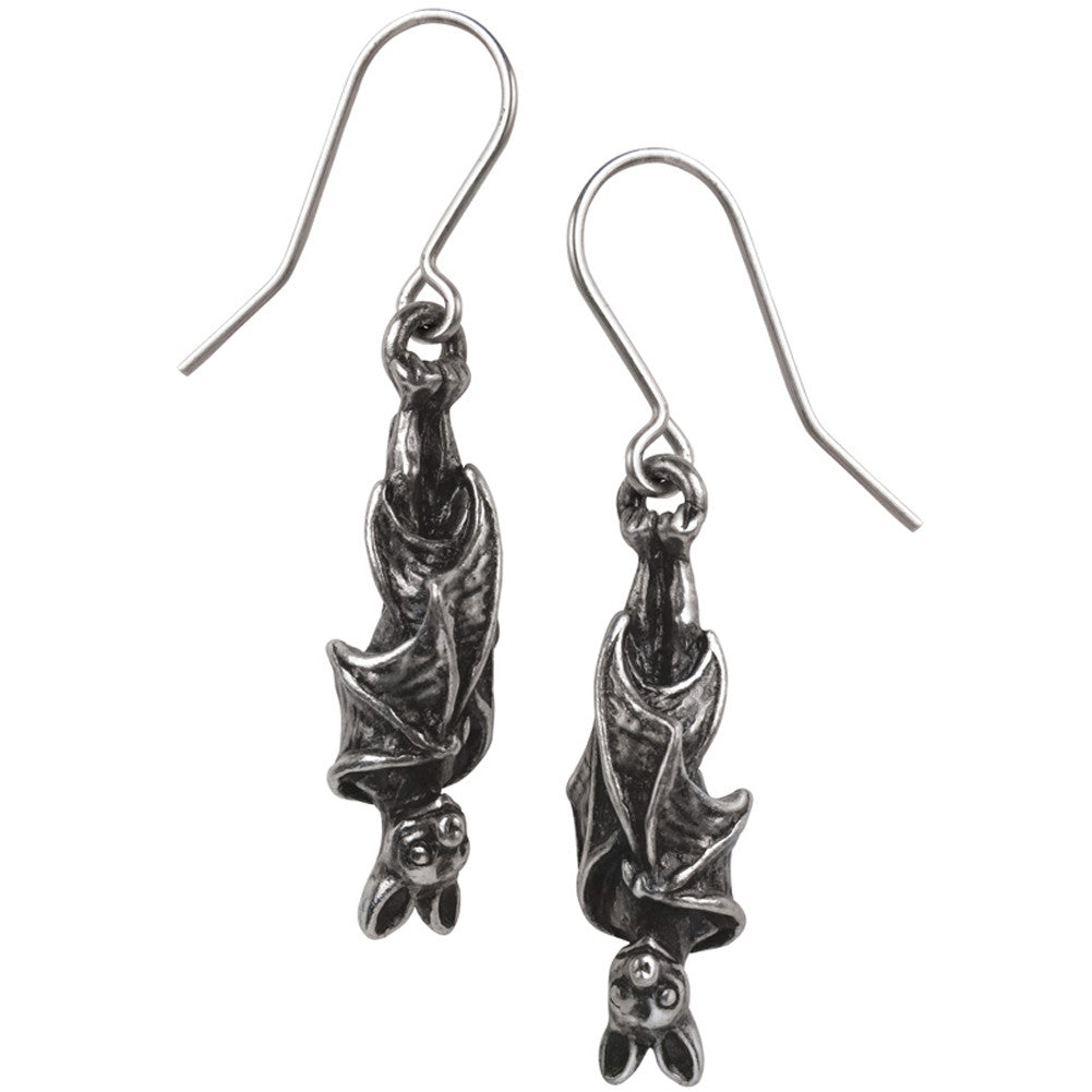 Alchemy of England Awaiting The Eventide Earrings Goth Bats