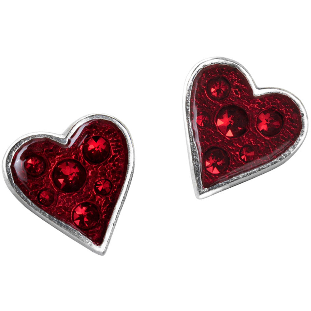 Alchemy of England Heart's Blood Stud Earrings Goth