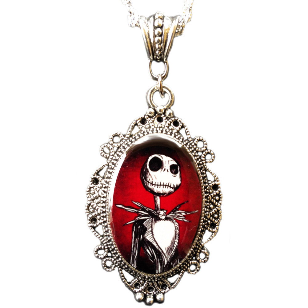 Alkemie & Artistry Jack Cameo Necklace Jack Skellington Nightmare Skeleton Goth
