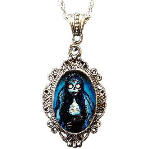 Alkemie & Artistry Sugar Skull Corpse Bride Cameo Day of the Dead Skeleton