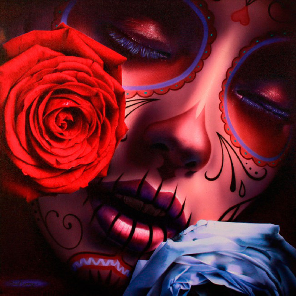 Amor Eterno by Daniel Esparza Canvas Giclee Day of the Dead Dia De Los Muertos