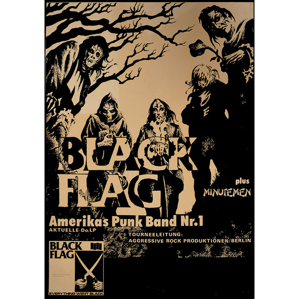 Annex Flag Fine Art Print Brown Black Flag Old School Punk Rock Flyer