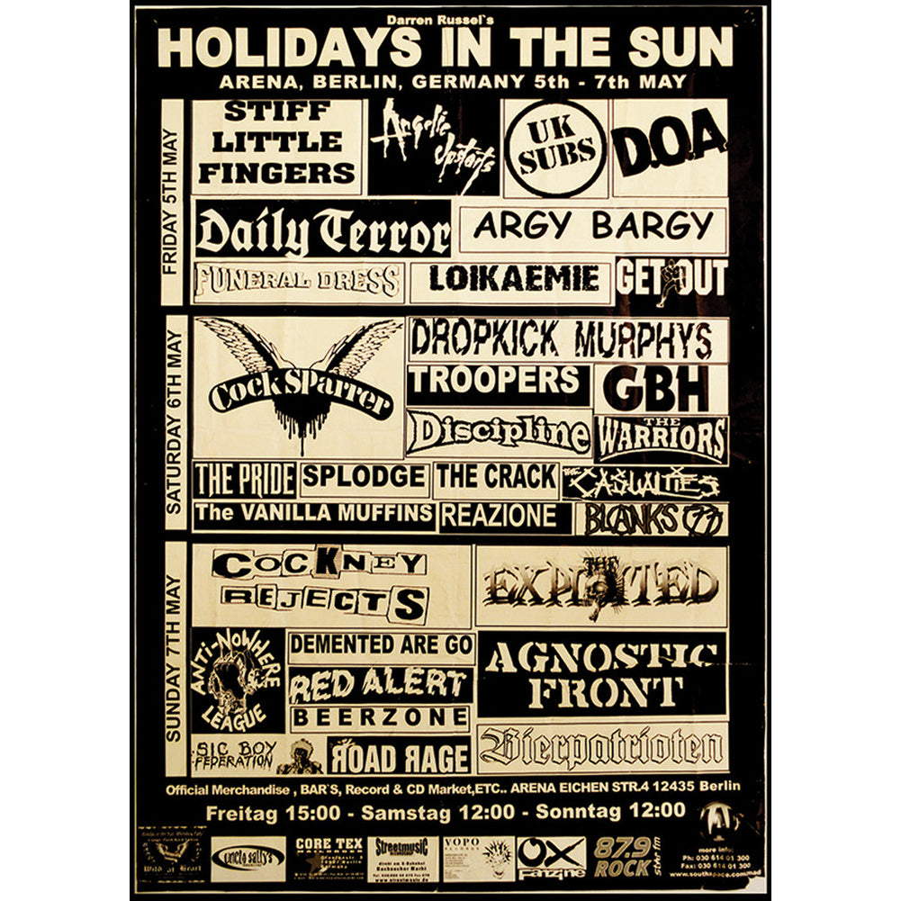Annex Holiday In The Sun Fine Art Print Black Old School Punk Rock Flyer