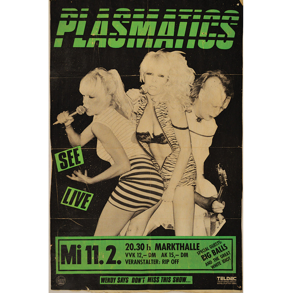Annex Plasmatic Fine Art Canvas Giclee Black Old School Punk Rock Flyer