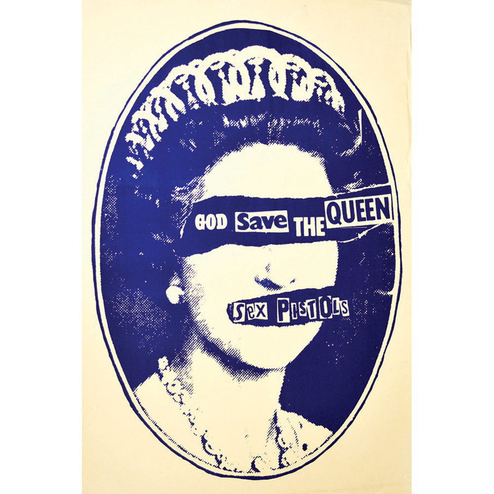 Annex Save The Queen Fine Art Print Blue Sex Pistols Old School Punk