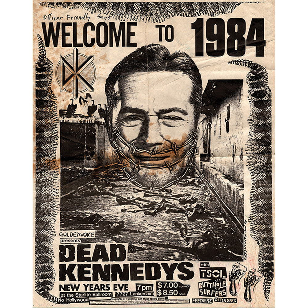 Annex Welcome To 1984 Fine Art Canvas Giclee Black Dead Kennedys Old School