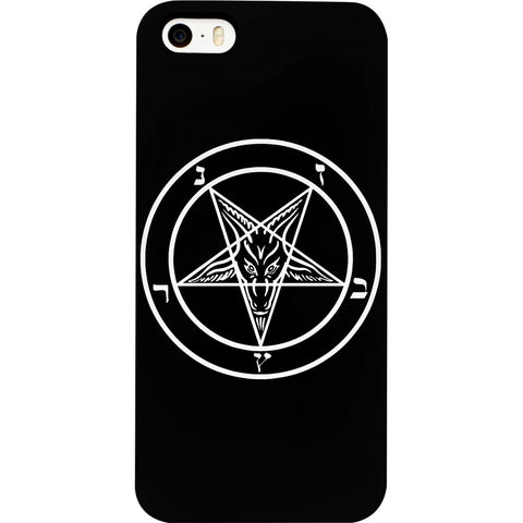 Mayhem Marilyn Baphamet Pentagram iPhone Case