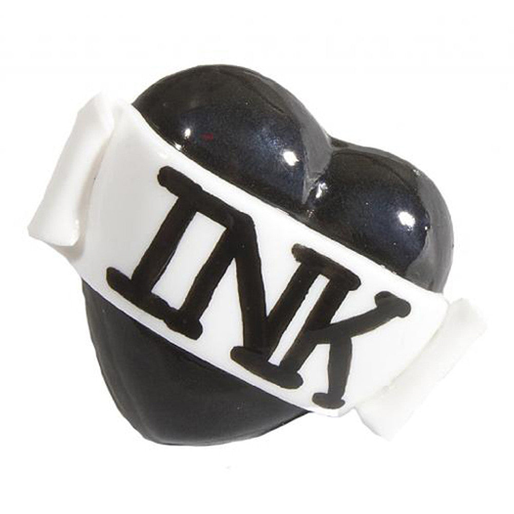 Bete Noire Ink Single Heart Ring Black Inked Tattoo Lifestyle Rockabilly