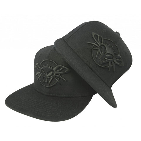 Black Flys Blacked Out Phantom Fitted Flex Cap Street Urban Apparel