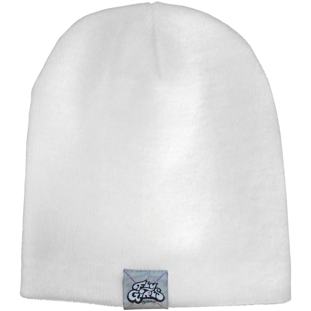 Black Flys Fly Girl Beanie White Logo Street Urban Apparel Hat