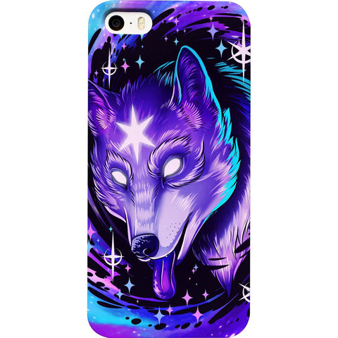 Black Hole Wolf iPhone Case