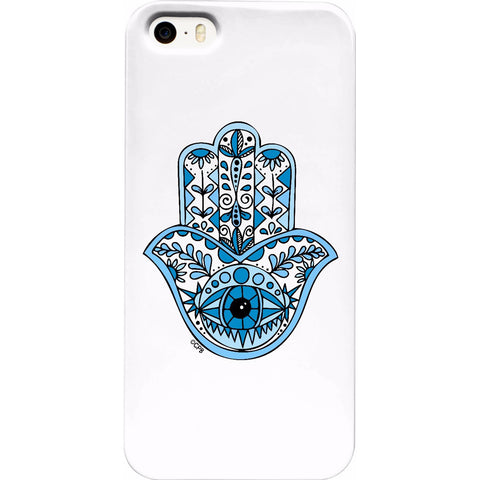 Blue Hamsa Phone Case