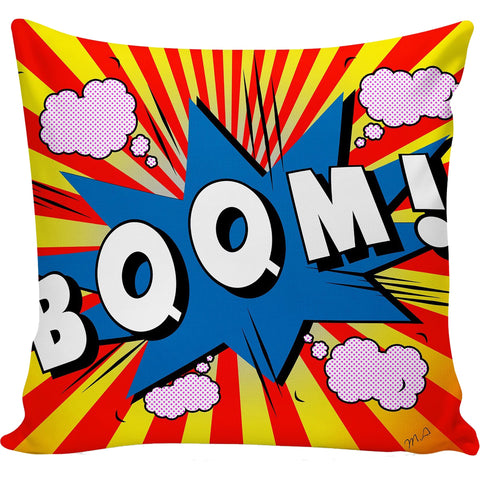 Boom Retro Comic Pillow