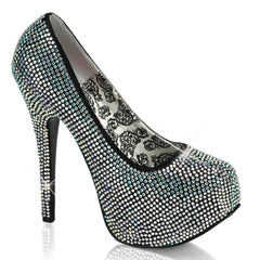 Bordello Teeze 06R Heel Iridescent Rinestones Sparkles Pin Up