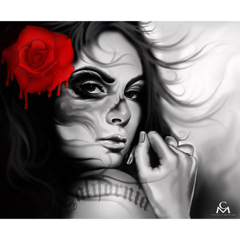 California Girl Canvas Giclee by Charlie Medina Melting Rose