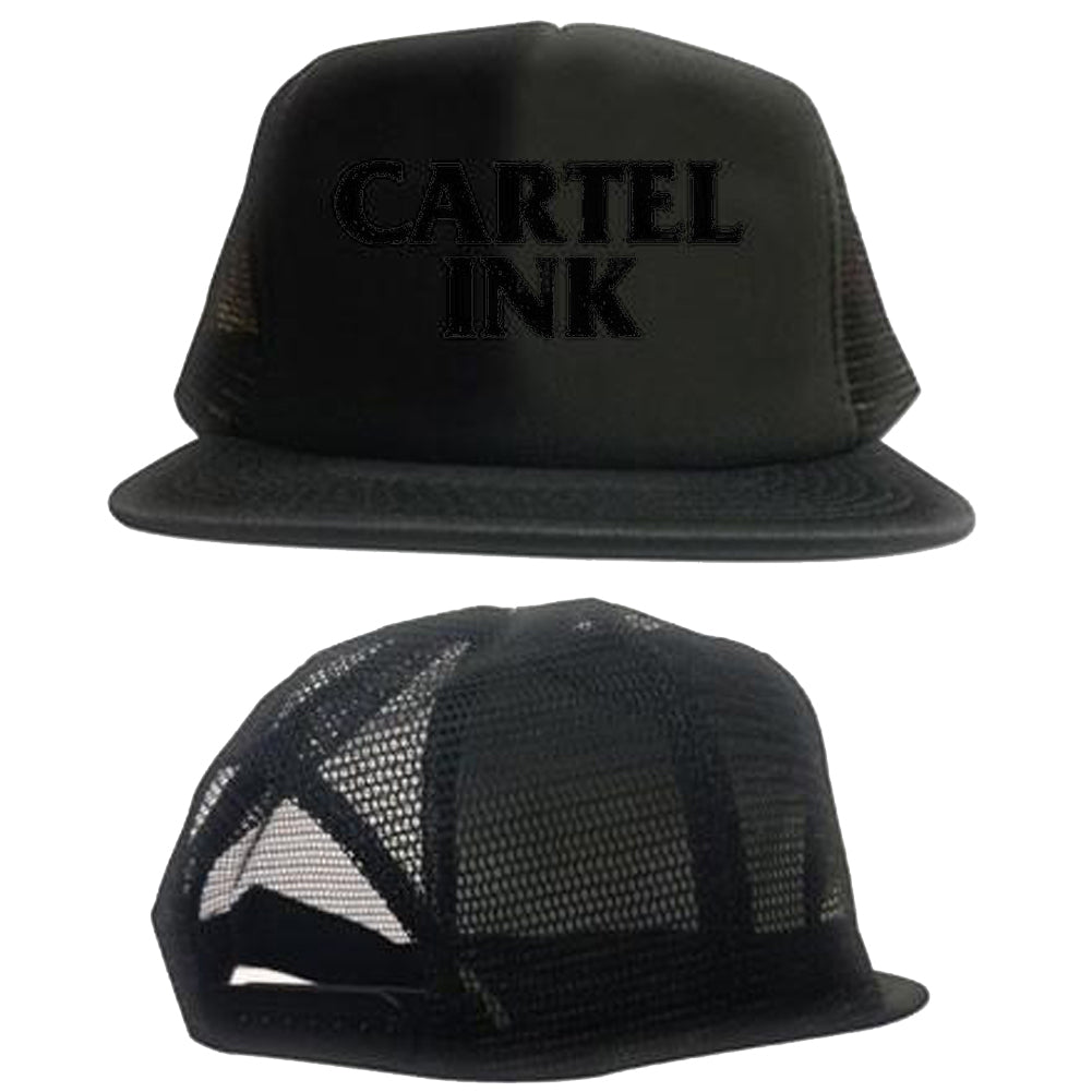 Cartel Ink Cartel Ink Logo Trucker Hat Black/Black Snapback